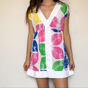Lilly Pulitzer Painter's Block Cover up Mini Dress